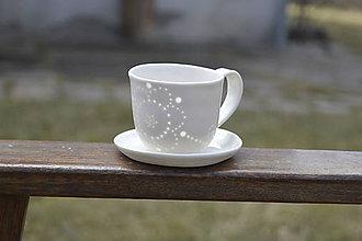 Nádoby - Madeirová espresso šálka Kvietok - 9367289_