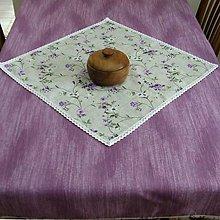 Úžitkový textil - Fialové ťahavé ruže - veľký obrus 140x120 - 9367120_