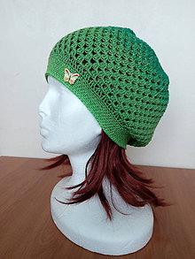 Detské čiapky - Jarná dievčenská baretka 3 - 6 rokov - 9367973_