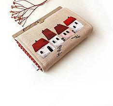 Peňaženky - Peňaženka s priehradkami Domčeky - 9367153_