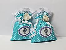 Úžitkový textil - Vrecúška plnené levanduľou - 9366391_