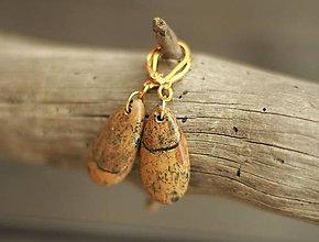 Náušnice - Náušnice z minerálu jaspis - 9368670_
