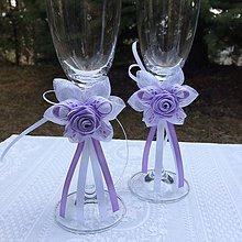Dekorácie - Dekorácie na svadobné poháre - 9366214_