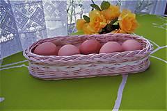 Košíky - Košík z pedigu na vajíčka-oválny - 9368567_