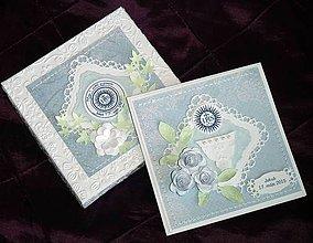 Papiernictvo - 1. sv. prijímanie - pre dievčatko (Modrá) - 9371446_