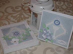 Papiernictvo - 1. sv. prijímanie - pre dievčatko (Zelená) - 9371469_