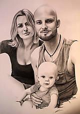 Kresby - Kresba - Rodinný portrét - 9369712_
