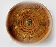 Dekorácie - drevená miska so znamením... - 9371231_