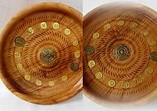Dekorácie - drevená miska so znamením... - 9371234_