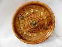 Dekorácie - drevená miska so znamením... - 9371237_