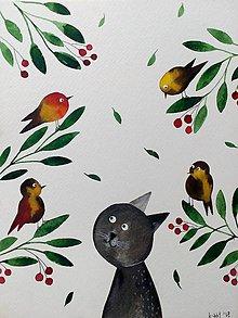 Obrazy - Kocúrkovo 2 ilustrácia  / originál maľba  - 9370378_