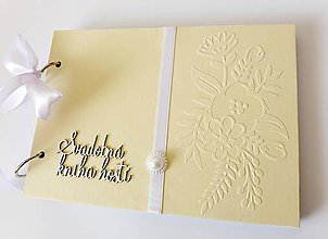 Papiernictvo - svadobná kniha hostí - 9369878_