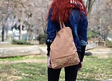 - Korková taška Simple flower - 9370335_