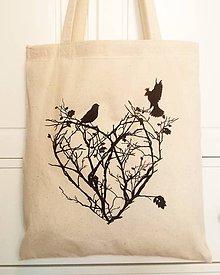 Nákupné tašky - Lesná láska - 9369826_