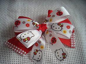 Detské doplnky - sponka - červeno biela - 9371315_
