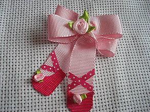 Detské doplnky - sponka - ružová baletka - 9371348_