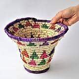 Pletená košíková miska FARHA, Farebný podnos na servírovanie osláv