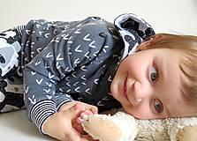 """Detské oblečenie - mikina z biobavlny """"V"""" - 9370720_"""