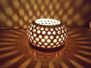 Svietidlá a sviečky - Keramicky svietnik - 9370905_