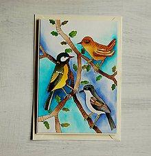 Papiernictvo - vtáčiky - 9370908_