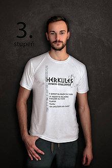 Oblečenie - Tričko s fitness výzvou HERKULES – 3.stupeň - 9371159_