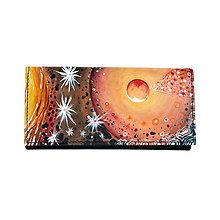 Peňaženky - Ručne maľovaná peňaženka s abstraktným motívom - 9370920_