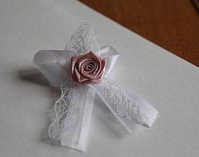 Pierka - svadobné pierko s čipkou - 9371607_