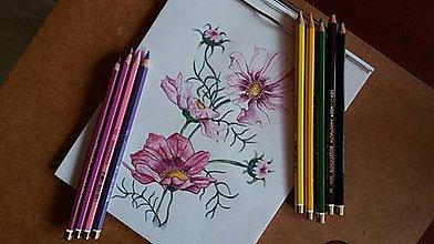 Kresby - Daily output botanic bordovo ruzova - 9370397_