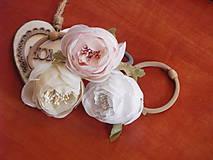 Náramky - Pastelové náramky s kvetom na gumičke - 9370597_