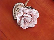 Náramky - Vintage staroružový náramok s kvetom 9cm - 9370602_