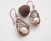 Náušnice - Náušnice s perlou - 9372514_
