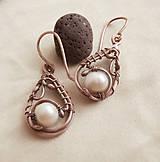 Náušnice - Náušnice s perlou - 9372515_