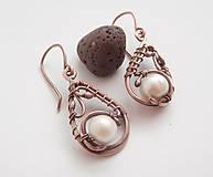 Náušnice - Náušnice s perlou - 9372517_