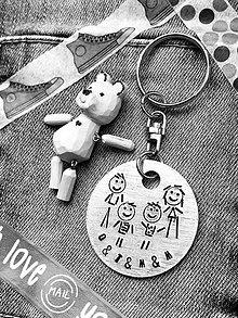 Kľúčenky - ... rodinka ... celá TVOJA ... ak chceš ... navrhni si svoj prívesok - 9374416_