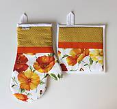 Úžitkový textil - set rukavica+chňapka Maky žlté - 9373569_
