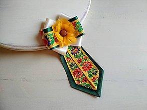 Odznaky/Brošne - Dámska kravata/brošňa pod golier...Folklórna - 9373695_