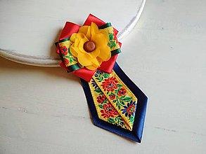 Odznaky/Brošne - Dámska kravata/brošňa pod golier...Folklórna - 9373727_