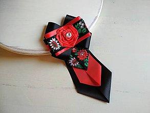 Odznaky/Brošne - Dámska kravata/brošňa pod golier...Vášnivý Folklór - 9374562_