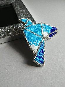 Odznaky/Brošne - Brošňa Modráčik - 9373745_
