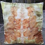 - Snenie-hodvábna ecoprint obliečka na vankúš - 9371782_