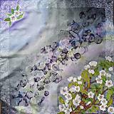 Búrlivá- hodvábna maľovaná šatka