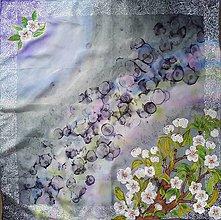 Šatky - Búrlivá- hodvábna maľovaná šatka - 9374196_