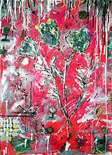Obrazy - Abstrakt kvety - 9373651_