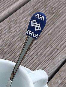 Pomôcky - Čičmany modro-biele 3 mocca - 9373841_