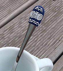 Pomôcky - Čičmany modro-biele 2 mocca - 9373842_