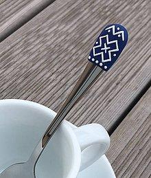 Pomôcky - Čičmany modro-biele 1 mocca - 9373848_
