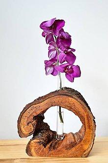 Dekorácie - Drevená váza 1. - 9373189_