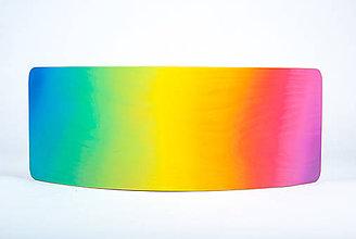 Hračky - Hojdacia doska OMBRÉ rainbow - 9372243_
