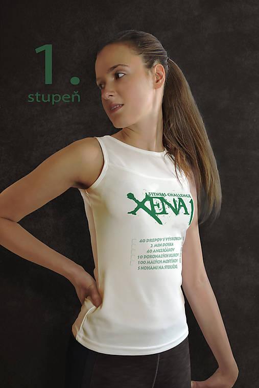 c53711ea8 Tričko na cvičenie s fitness výzvou XENA / INSPIREE - SAShE.sk ...