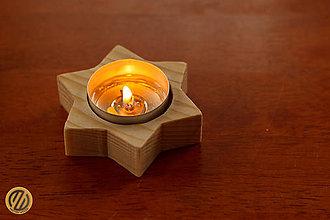 Svietidlá a sviečky - Drevený svietnik STARLIGHT - 9374421_